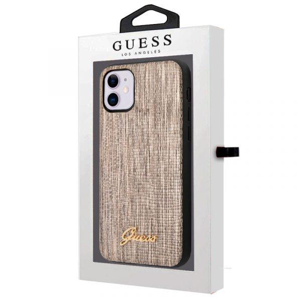 carcasa iphone 11 licencia guess glitter dorado 2