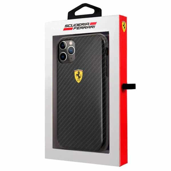 carcasa iphone 11 pro licencia ferrari negro 2
