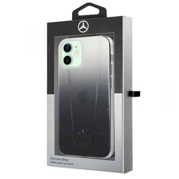 carcasa iphone 12 12 pro licencia mercedes benz negro ahumado 2