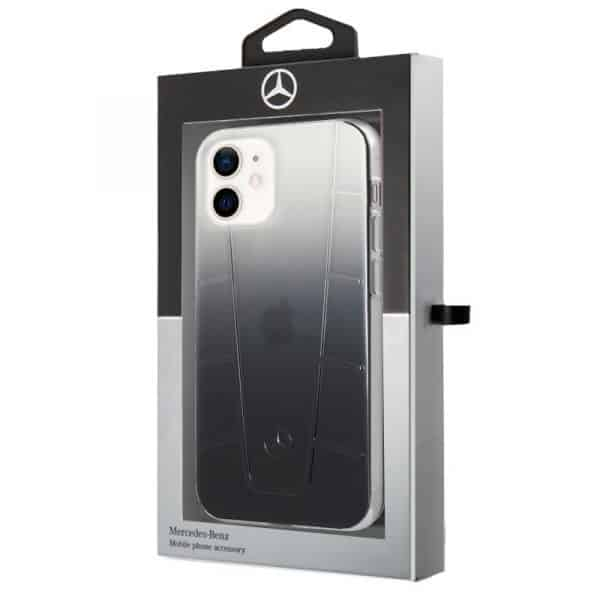 carcasa iphone 12 mini licencia mercedes benz negro ahumado 2