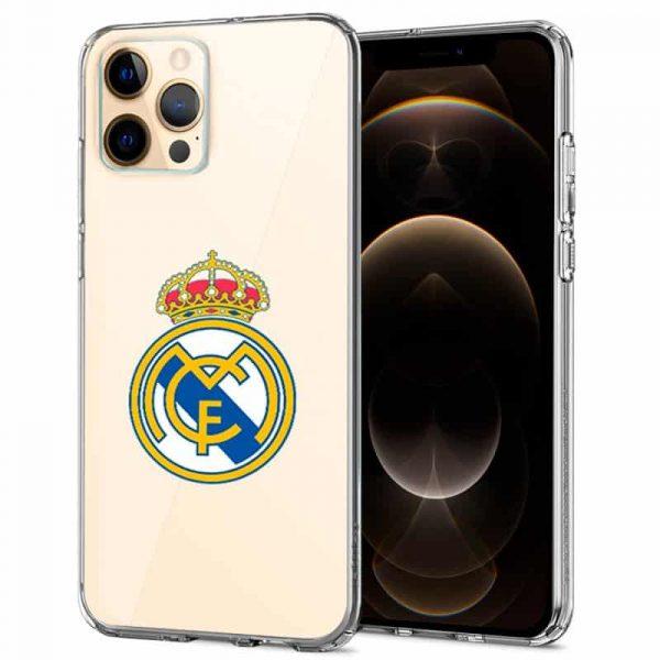 carcasa iphone 12 pro max licencia futbol real madrid transparente 1