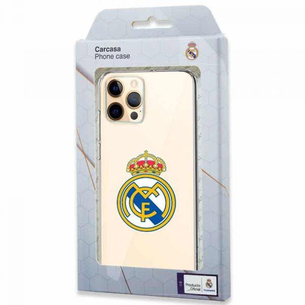 carcasa iphone 12 pro max licencia futbol real madrid transparente 2