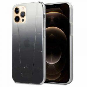 carcasa iphone 12 pro max licencia mercedes benz negro ahumado 1