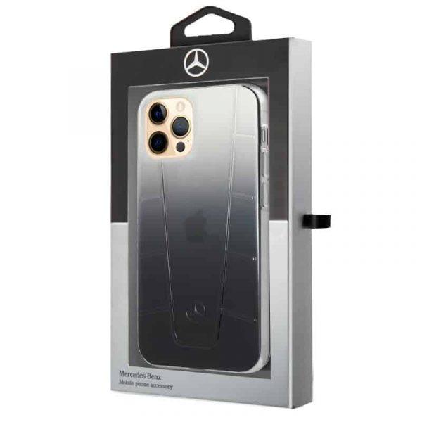 carcasa iphone 12 pro max licencia mercedes benz negro ahumado 2