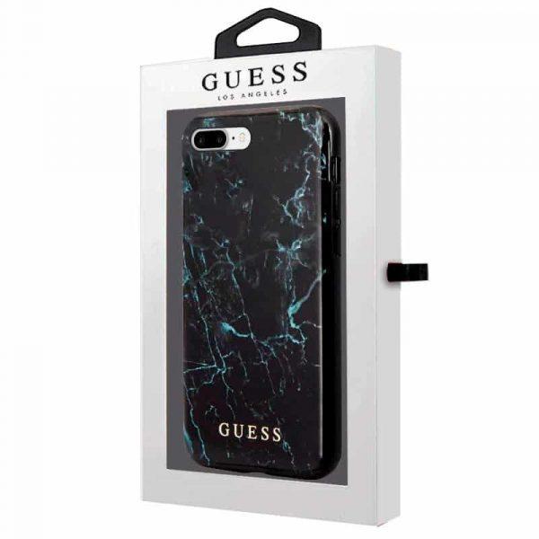 carcasa iphone 6 plus iphone 7 plus 8 plus licencia guess marmol negro 2