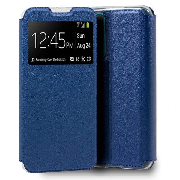 funda flip cover huawei p smart 2021 liso azul 1