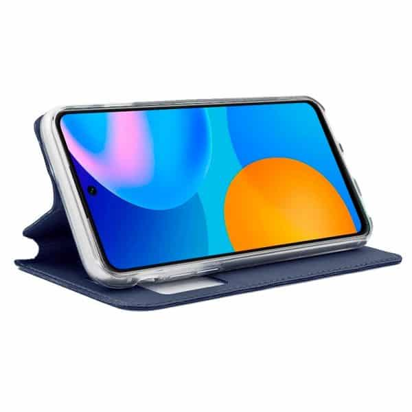 funda flip cover huawei p smart 2021 liso azul 2