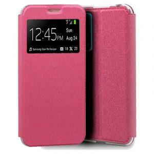 funda flip cover huawei p smart 2021 liso rosa 1
