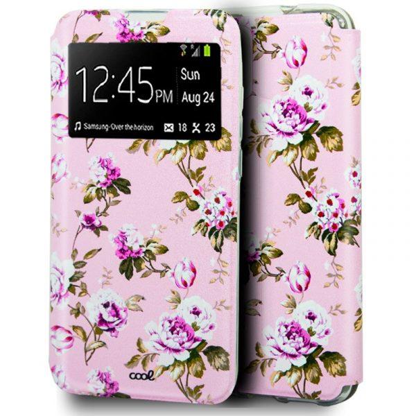 funda flip cover iphone 12 mini dibujos flores 1