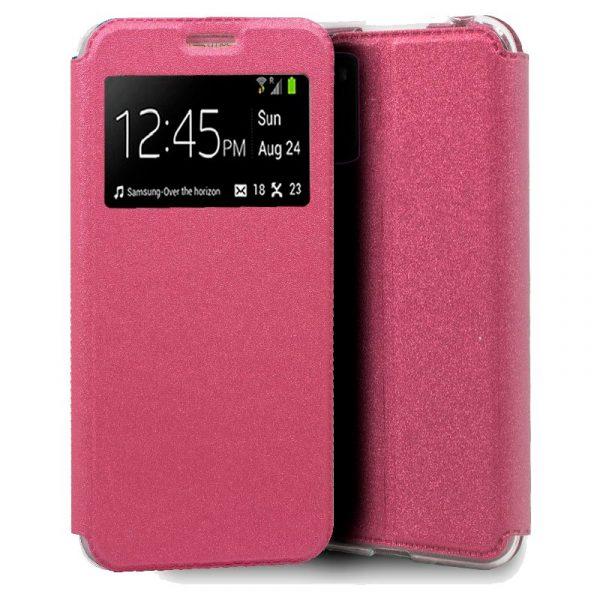funda flip cover xiaomi pocophone m3 liso rosa 1