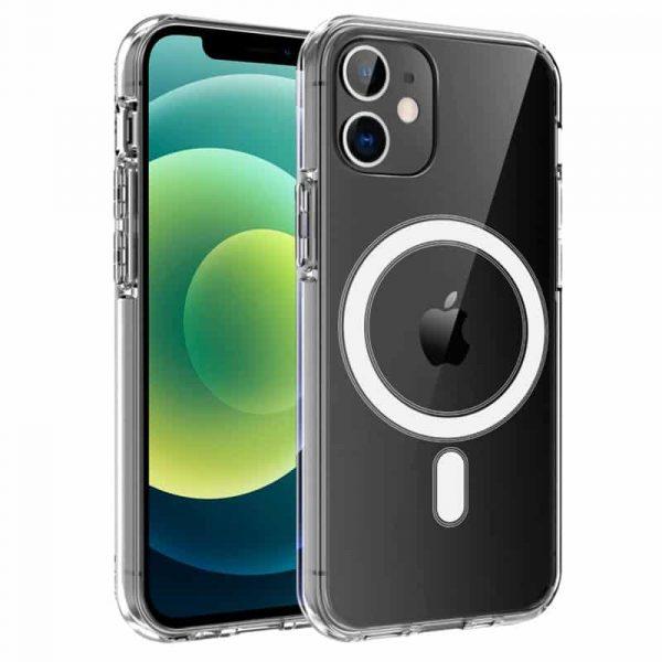 carcasa iphone 12 12 pro magnetica transparente 1
