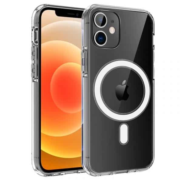 carcasa iphone 12 mini magnetica transparente 1