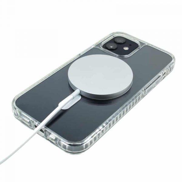 carcasa iphone 12 mini magnetica transparente 2