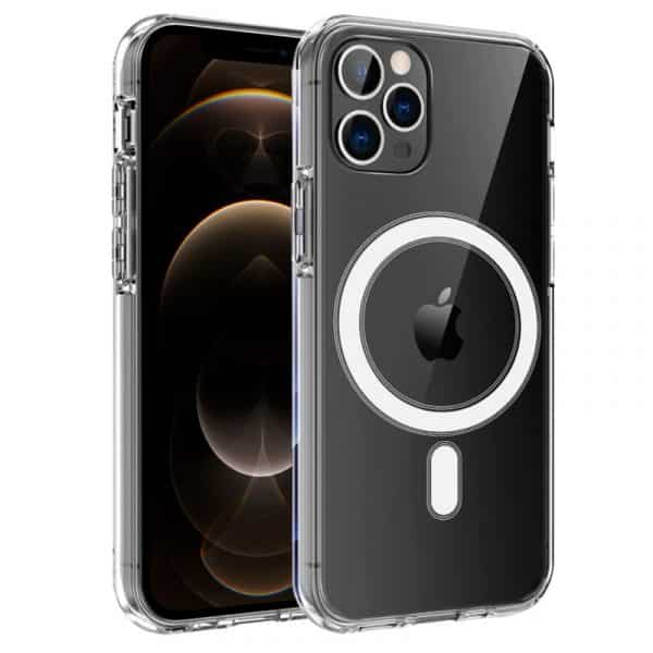 carcasa iphone 12 pro max magnetica transparente 1