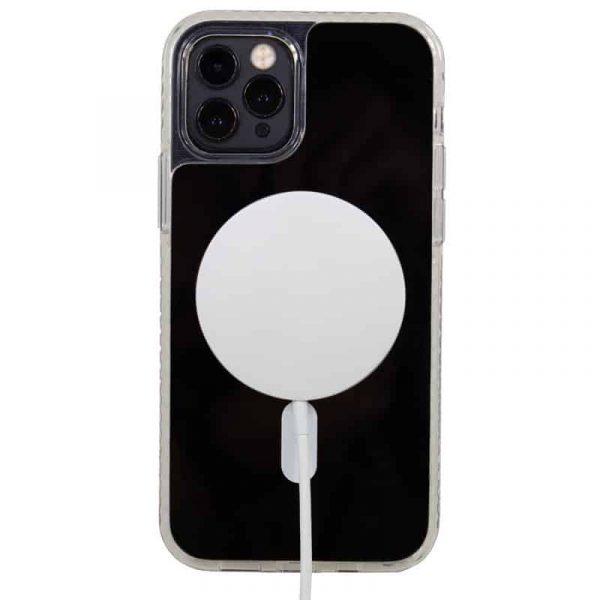 carcasa iphone 12 pro max magnetica transparente 3