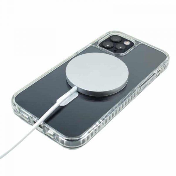 carcasa iphone 12 pro max magnetica transparente 4