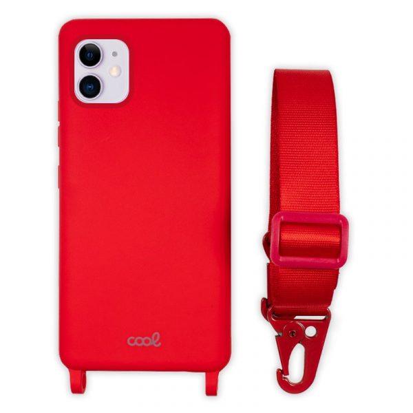 carcasa iphone 11 cinta rojo 1