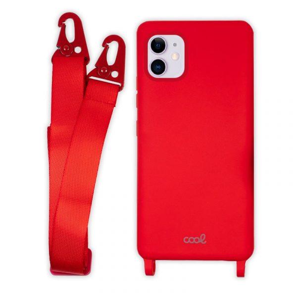 carcasa iphone 11 cinta rojo 4