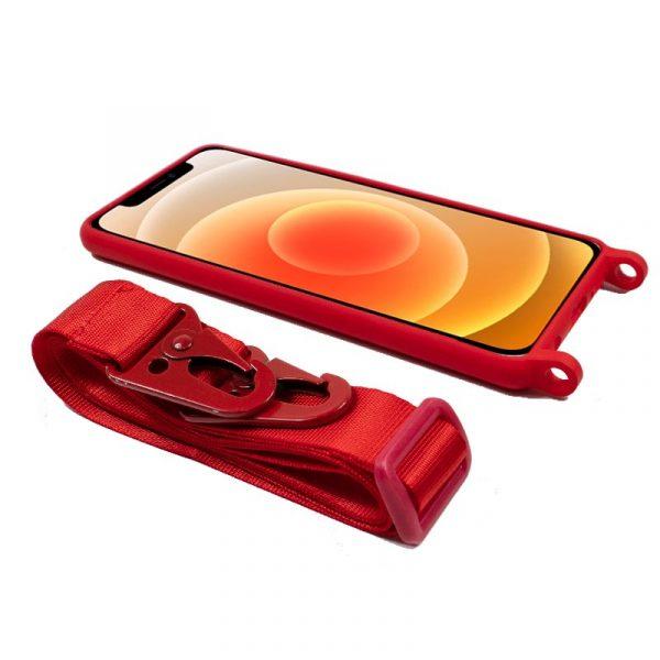 carcasa iphone 12 mini cinta rojo 3