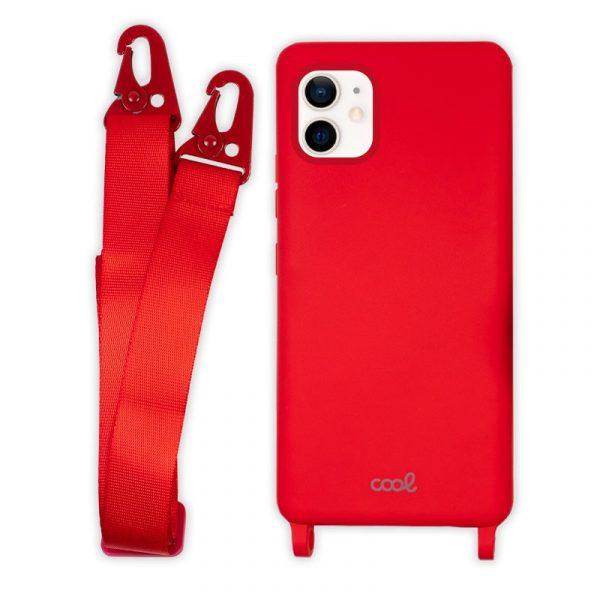carcasa iphone 12 mini cinta rojo 4