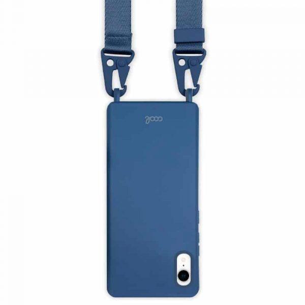 carcasa iphone xr cinta azul 2
