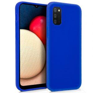 funda silicona para samsung galaxy a02s azul