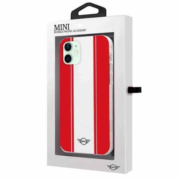 carcasa iphone 12 12 pro mini cooper rojo blanco 2