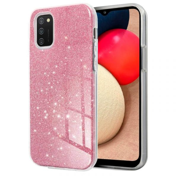 carcasa cool para samsung galaxy a02s glitter rosa 1